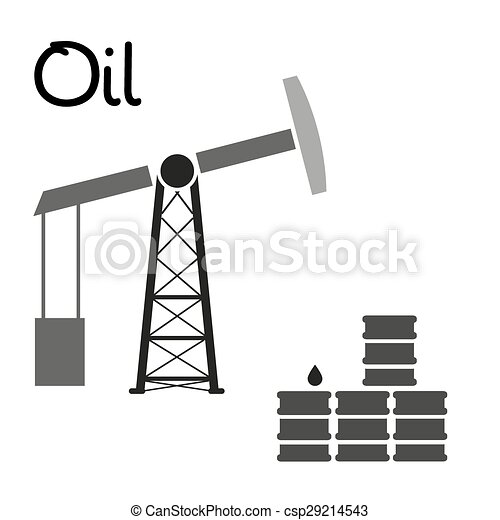 EPS Vector of oil production and oil well and barrels ...  EPS Vector of o...