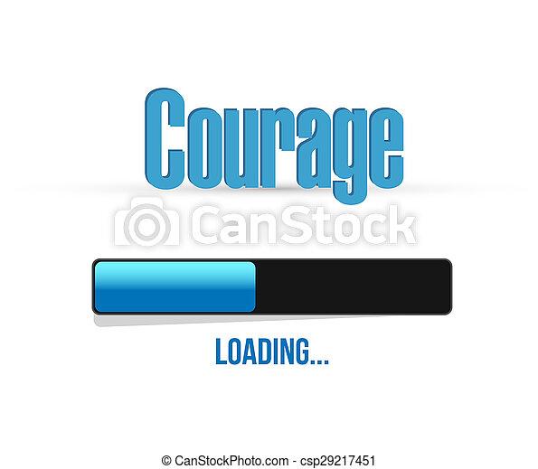 courage,  concept, barre,  Illustration, signe, chargement - csp29217451