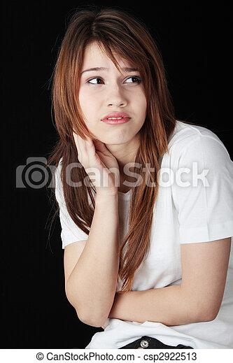 Teenage girl depression - csp2922513