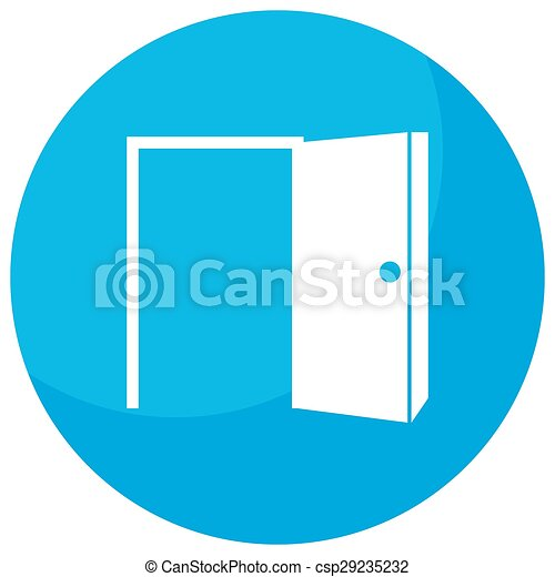 Vectors Of Open Door Opportunity Icon An Image Of A