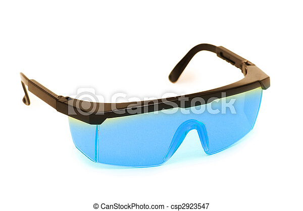 Safety glasses isolated on the white background - csp2923547
