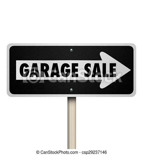 Disegno di cianfrusaglie prato indicare vendita segno for Piani di garage free standing