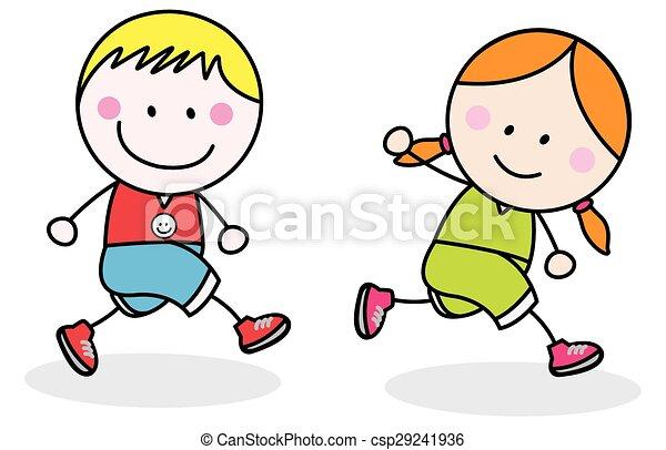 Kids jogging - csp29241936