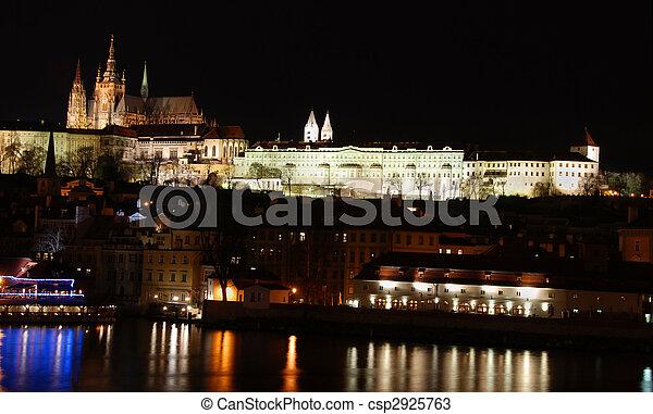Nightscape of Prague - csp2925763