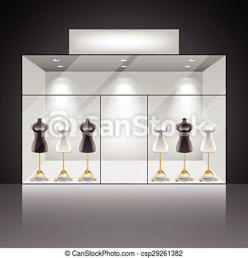 vecteur de magasin int rieur clair vitrine clair magasin csp29261382 recherchez. Black Bedroom Furniture Sets. Home Design Ideas