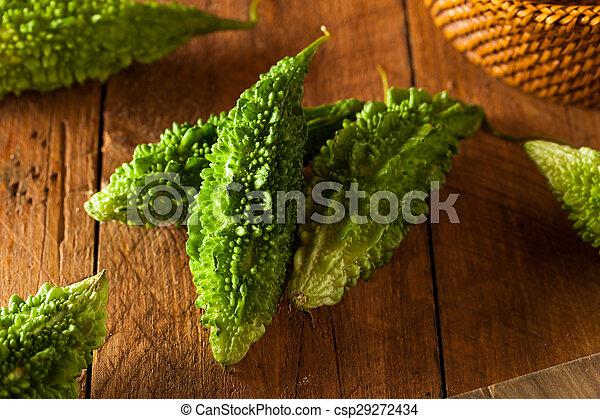 Raw Green Organic Bitter Melon