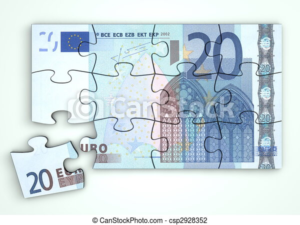 Clip Art of 20 Euro Note Puzzle - Top View - 20 Euro note ... - photo #23