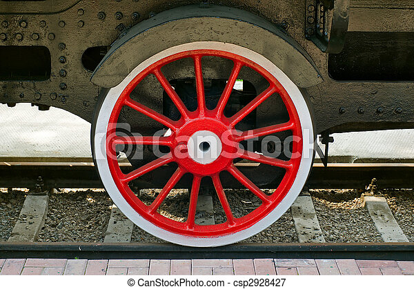 steam locomotive wheel - csp2928427