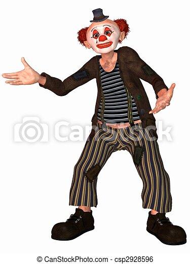 Toonimal Clown - csp2928596