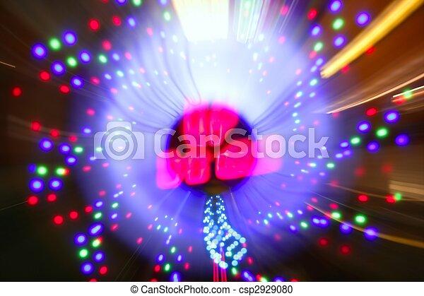 Gambling casino zoom blurred lights - csp2929080