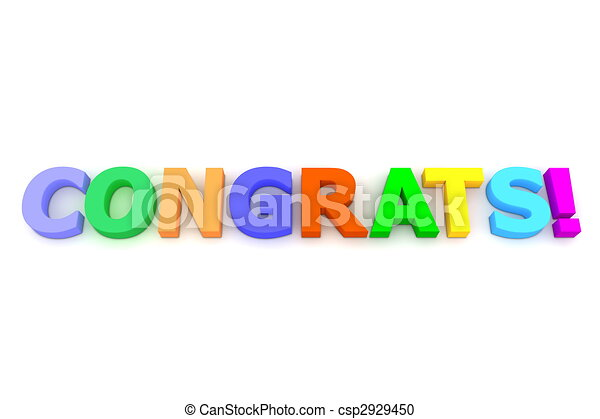 Colourful Congratulations - csp2929450