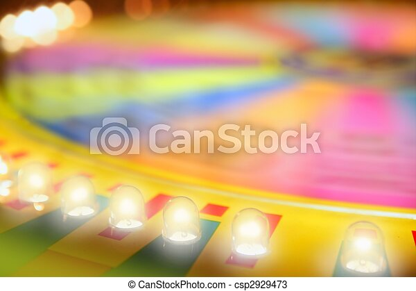 Blurry colorful glow gambling roulette - csp2929473