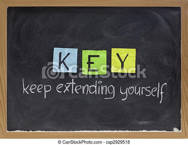 keep extending yourself - motivation acronym - csp2929518