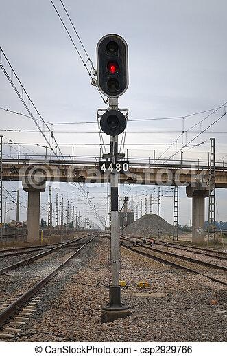 train traffic signal - csp2929766