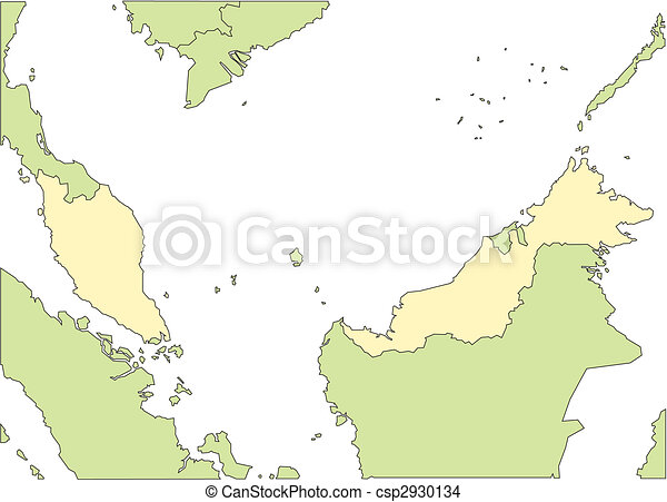 Malaysia and Surrounding Countries - csp2930134