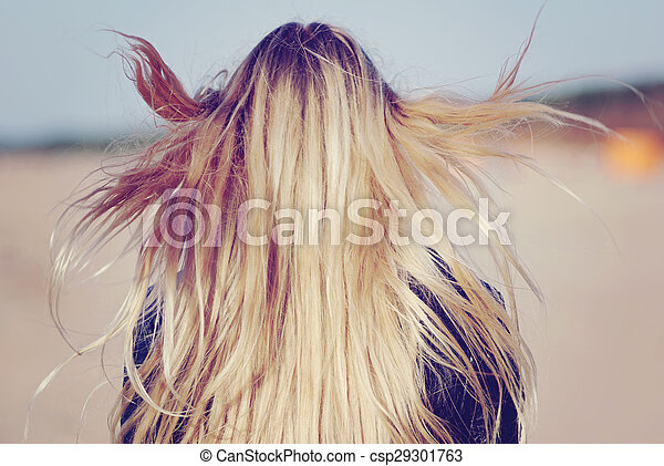 blond long hairs