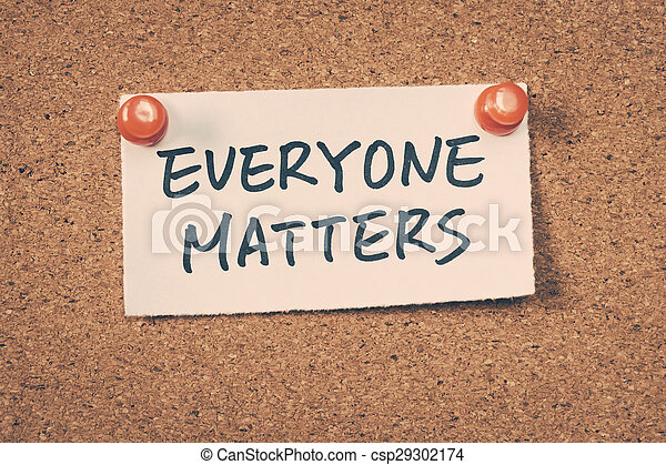 Everyone matters - csp29302174