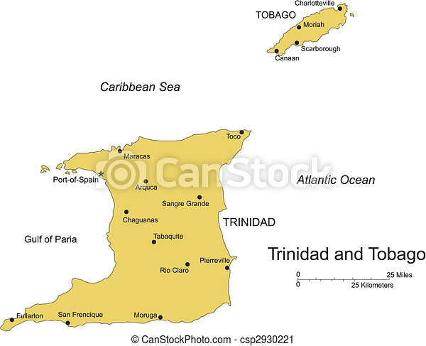 Trinidad and Tobago, Island, Capital - csp2930221