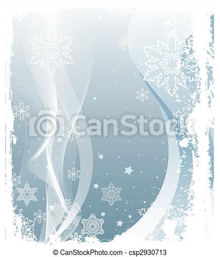 Snowing Background - csp2930713
