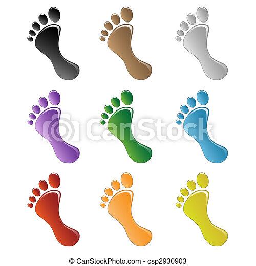 Dessins de pied illustration de a humain pied sur a blanc csp2930903 recherchez - Dessin de pied ...