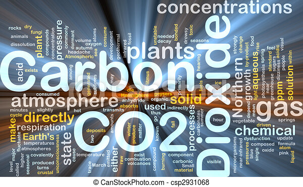 Carbon dioxide background concept glowing - csp2931068