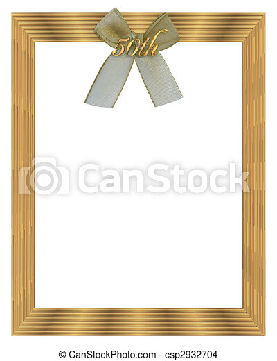 Stock Illustration 50th wedding anniversary frame