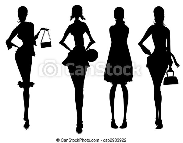 business female silhouette - csp2933922