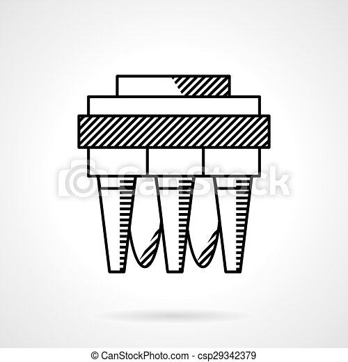 Vectors Illustration of Water filter system line vector icon ...