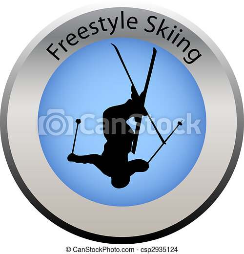 winter game button freestyle skiing - csp2935124