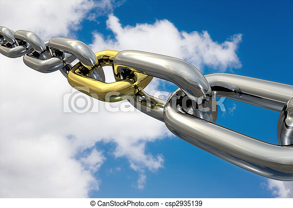 Chains Golden Link, isolated - csp2935139