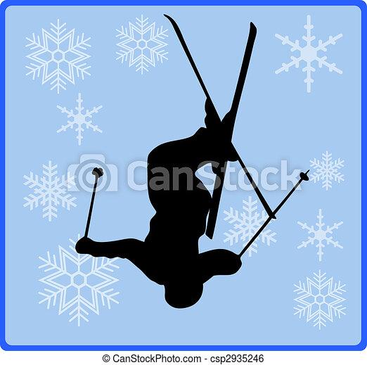 winter game button freestyle skiing - csp2935246