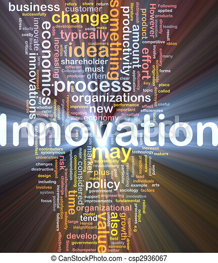 Innovation business background concept glowing - csp2936067