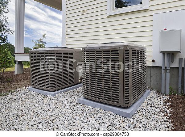 HVAC heating and air units - csp29364753