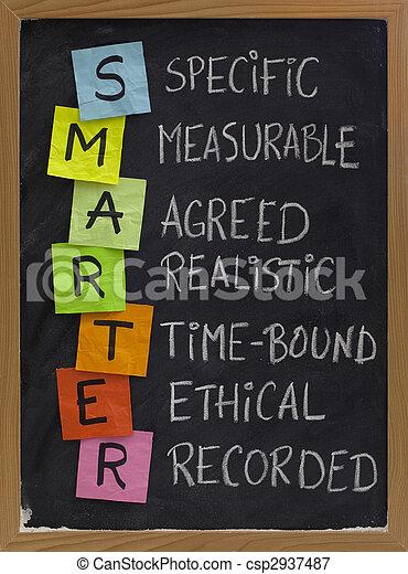smart (smarter) goal setting - csp2937487