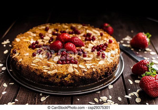 Homemade polenta cake