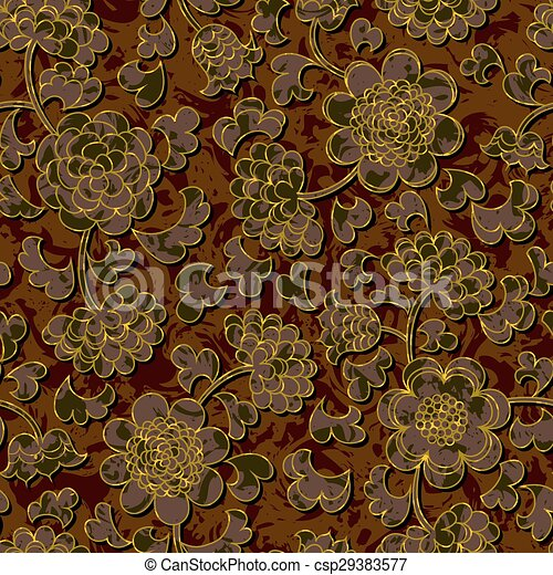 vectors illustration of seamless floral damask pattern background Vector Seamless Floral Damask Pattern Background Vector Seamless Floral Damask Pattern Royalty Free Stock Photo