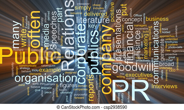 Public relations glowing - csp2938590