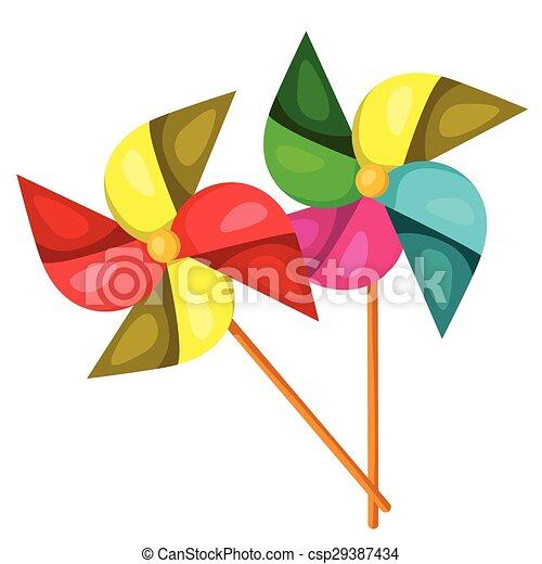 Illustrator of Windmill - csp29387434