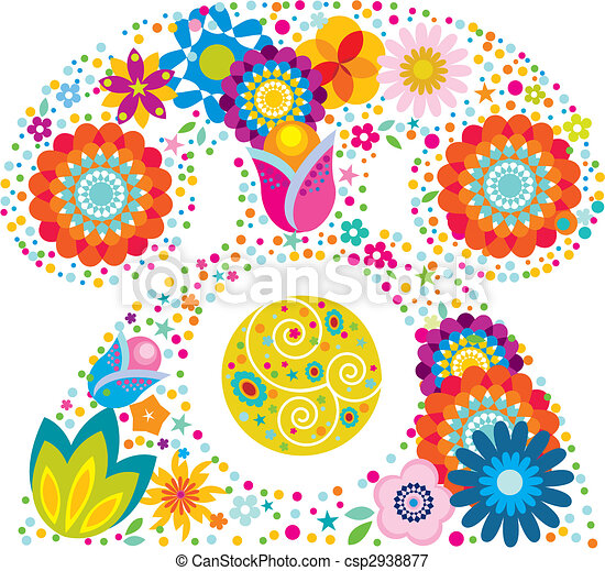 floral telephone - csp2938877