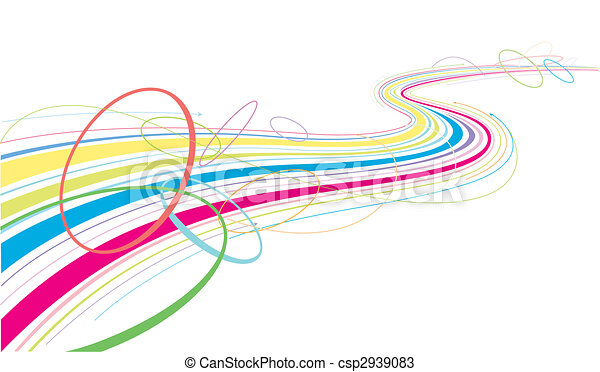 flowing colorful lines - csp2939083