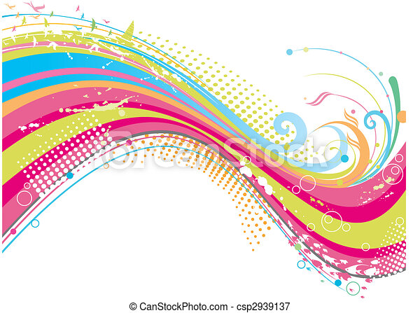funky colorful background - csp2939137