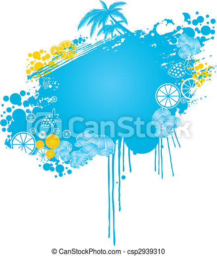 summer theme noticeboard - csp2939310