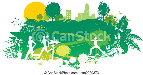 park scenery - csp2939373