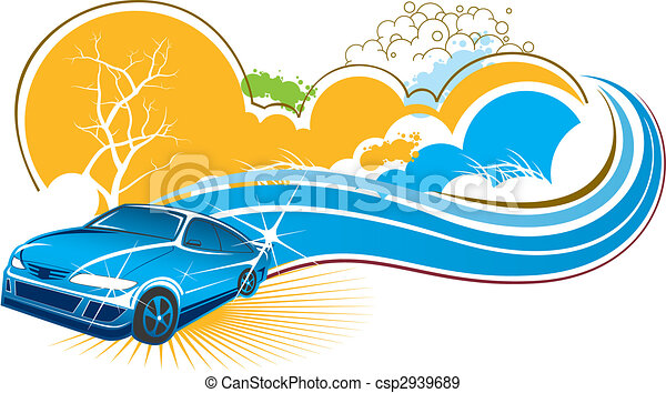 car with nature scenery - csp2939689