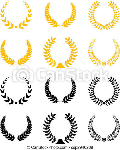 Set of laurel wreaths - csp2940289
