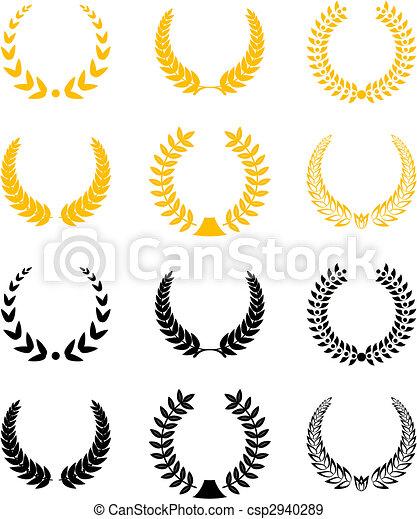 Set of laurel wreaths - csp2940289