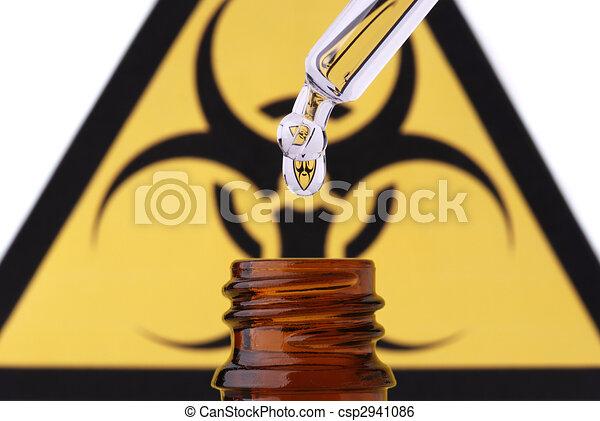 Bio hazard pipette drop and bottle - csp2941086