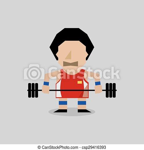 Weight Lifter. - csp29416393