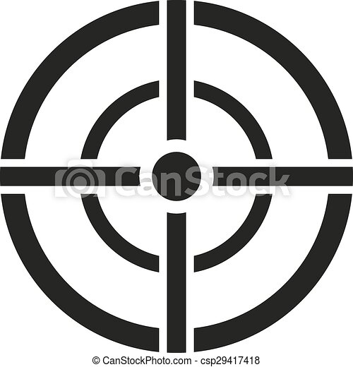 Vector Clip Art of The aim bag icon. Crosshair and target, sight ...
