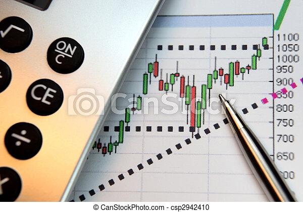 Andare, mercati, su, finanziario, grafico - csp2942410